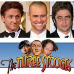 """I """"Three Stooges"""": Penn, Carrey e Del Toro"""