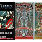 Captain America VS Transformers 3: poster art di Tyler Stout e Jesse Phillips