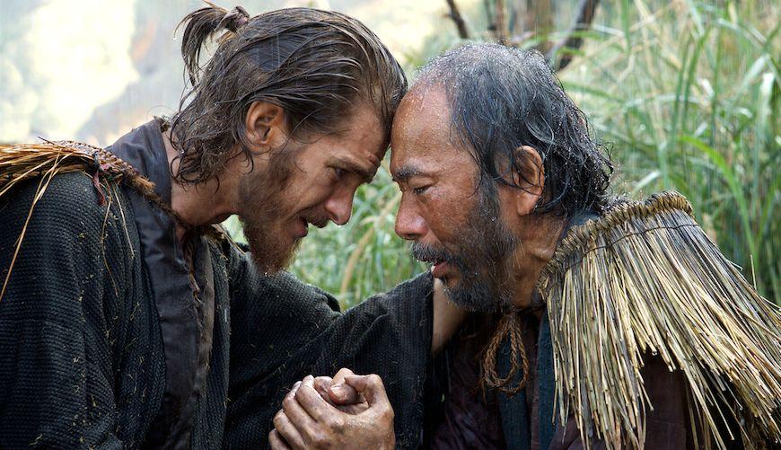 Andrew Garfield e Shinya Tsukamoto in Silence, di Martin Scorsese
