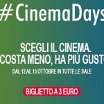 The Space Cinema raddoppia l'offerta di CinemaDays