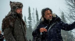 Leonadro Di Caprio e Alejandro G. Inarritu sul set di The Revenant