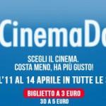 Film a 3 euro con #CinemaDays dall'11 al 14 aprile