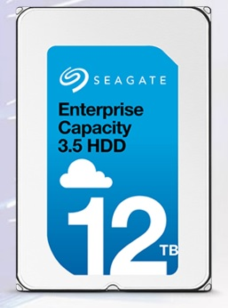 Immagine frontale del disco rigido Enterprise Capacity 3.5 HDD da 12 TB di Seagate Technology