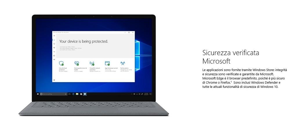 Windows 10 S dovrebbe fornire migliori caratteristiche di sicurezza