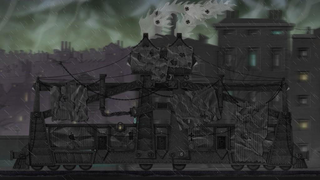 Ecco la specialissima locomotiva di Dark Train in movimento...
