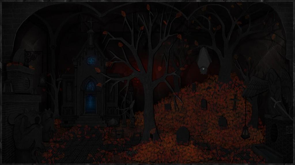 Il Cimitero: uno degli ambienti di gioco di Dark Train (PC)