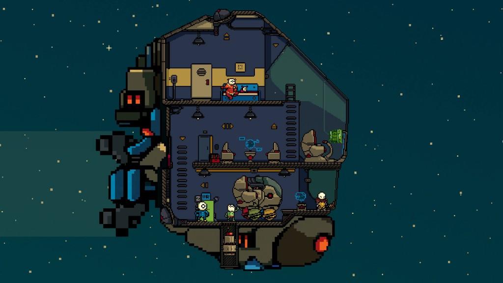 La squadra di Unit 4 al completo, dentro la loro astronave...