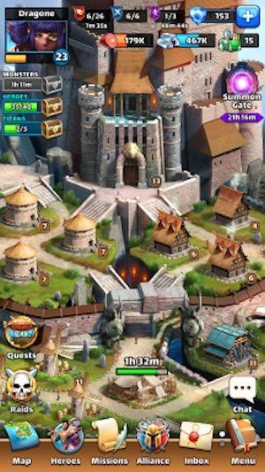 Corelia, la cittadina fortificata che funge da vostra base in-game