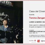 Prendimi e portami via: Zangardi oggi alla Casa del Cinema