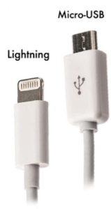 MicroUSB e Lightning