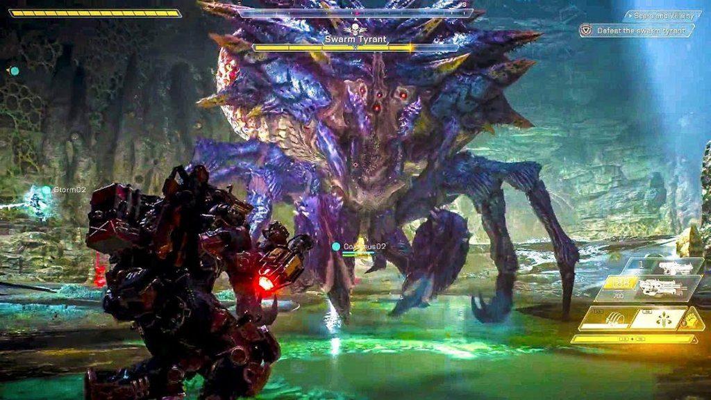 Anthem (PS4): ecco un combattimento con una specie di mostro/boss