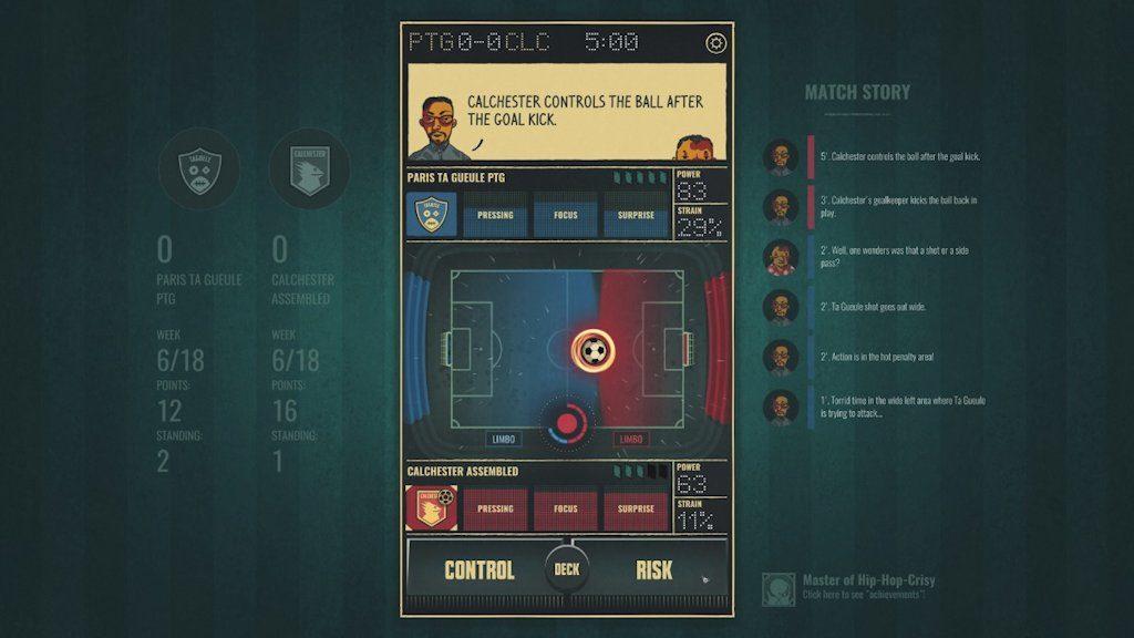 Il livello della simulazione calcistica vera e propria ricorda vecchie release di Football Manager...