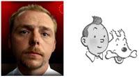 Simon Pegg VS Tintin