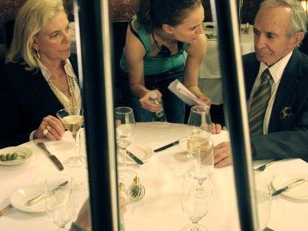 Natalie Portman sul set del film con Lauren Bacall e Ben Gazzara