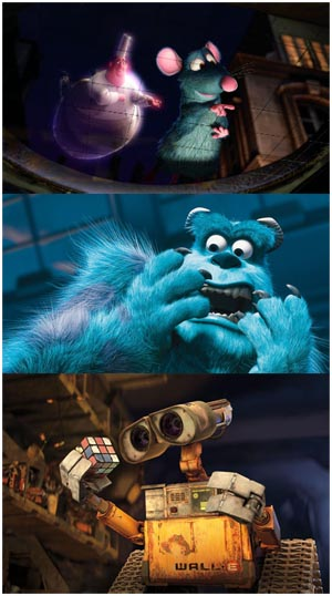 Ratatouille - Monsters & Co.- WALL E