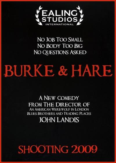 Burke & Hare di John Landis - poster promozionale presentato all'American Film Market
