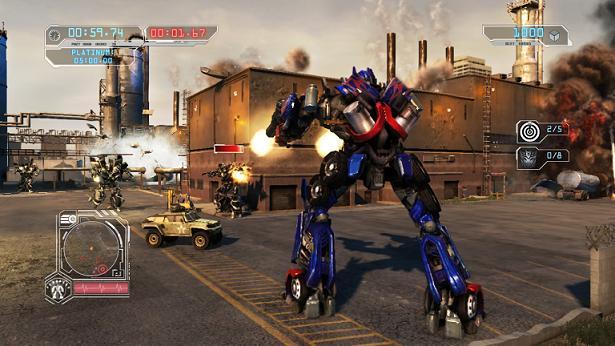 transformers revenge of the fallen videogame ps3 optimus prime