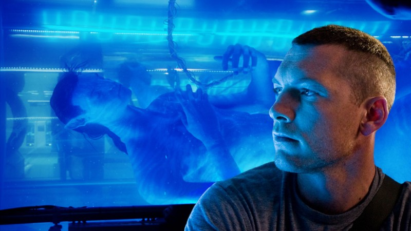 sam worthington in avatar di james cameron