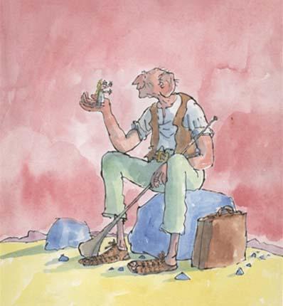 il GGG illustrazione di quentin blake