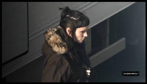 Rooney Mara sul set di THE GIRL WITH THE DRAGON TATTOO di DAVID FINCHER