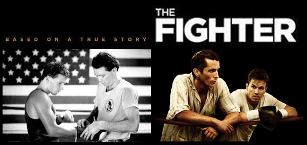 Christian Bale e Mark Wahlberg (2010) VS Micky Ward e Dicky Eklund (1987) - THE FIGHTER