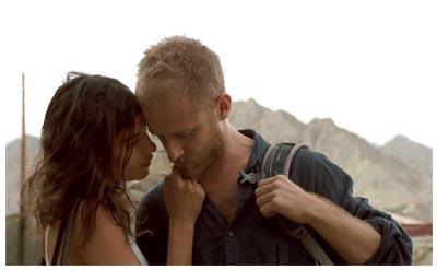 Lubna Azabal e Ben Foster in HERE [ THE FILM ] di Braden King