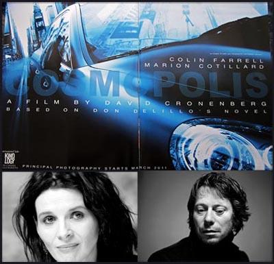 Juliette Binoche e Mathieu Amalric in COSMOPOLIS di David Cronenberg