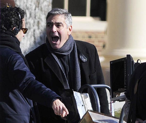 George Clooney sul set di THE IDES OF MARCH