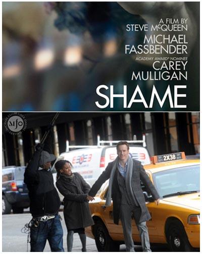 Michael Fassbender e Nicole Beharie sul set di SHAME di Steve McQueen