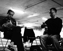 Lau Ching wan e Johnnie To sul set di Life Without Principle. Hong-Kong, Aprile 2010