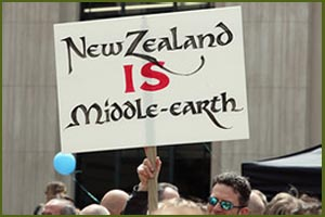 Manifestazione per The Hobbit in Nuova Zelanda
