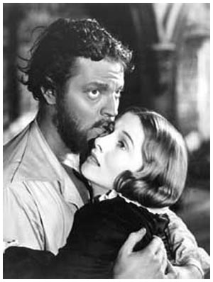 Il Rochester di Orson Welles (con Joan Fontaine in JANE EYRE, 1944)