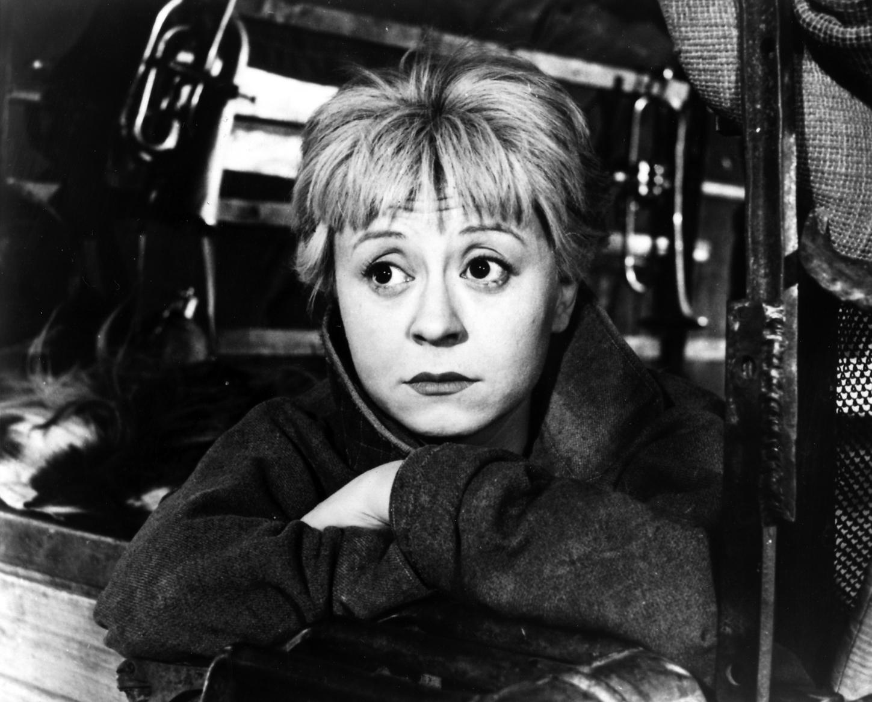 Giulietta Masina interprete di Gelsomina nel film La strada di Federico Fellini