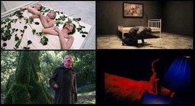 In senso orario: The Living and the dead, Amer, A Serbian Film, Los Cronocrímenes