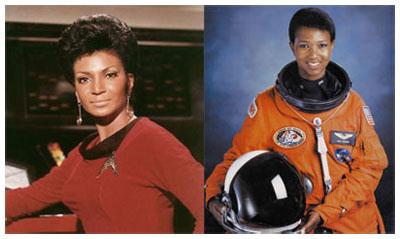 L'ufficiale comandante Uhura di Star Trek VS Mae Carol Jemison, prima afroamericana nello spazio
