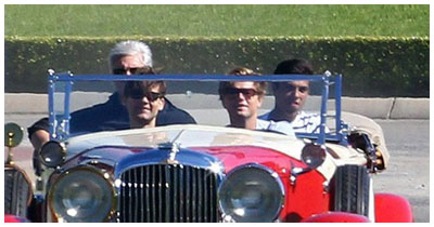 The Great Gatsby - foto dal set - Leonardo Di Caprio e Tobey Maguire