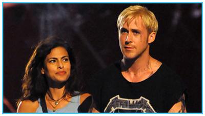 Ryan Gosling e Eva Mendes sul set - THE PLACE BEYOND THE PINES