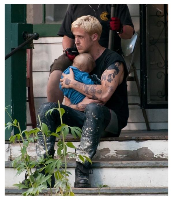 Ryan Gosling sul set di THE PLACE BEYOND THE PINES [Derek Cianfrance]