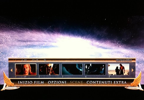 Menu del blu-ray di Thor, di Kenneth Branagh