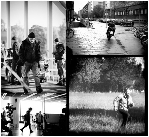 David Fincher sul set di THE GIRL WITH THE DRAGON TATTOO