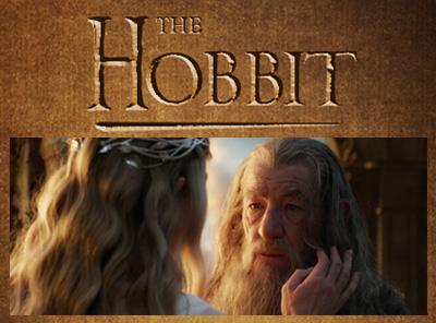 The Hobbit: An Unexpected Journey. Sir Ian McKellen/Gandalf, Cate Blanchett/Galadriel
