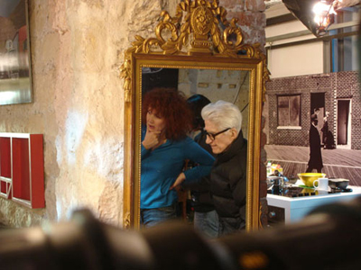 Alain Resnais sul set con Sabine Azéma