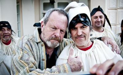 Terry Gilliam e Renato De Maria sul set di The Wholly Family