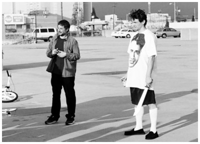 REBEL - Harmony Korine e James Franco sul set del corto CAPUT