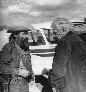 Dennis Hopper e Nicholas Ray - New Mexico, 1971