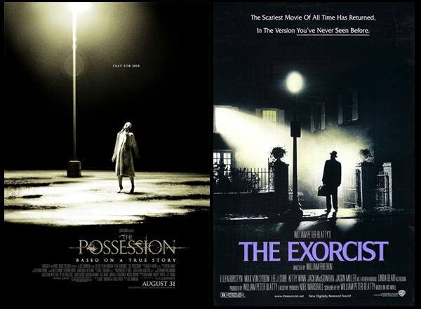 Poster a confronto: The Possession di Ole Bornedal VS The Exorcist di William Friedkin