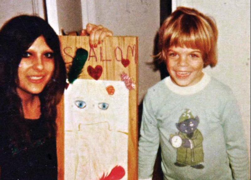 Jonathan Caouette con la madre Renee