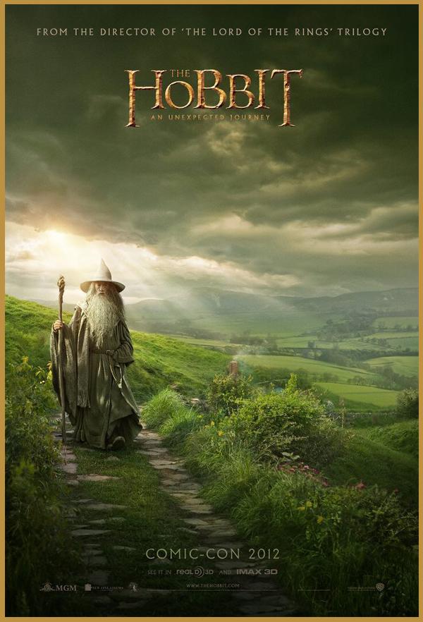 Lo Hobbit di Peter Jackson, poster Comic-Con 2012