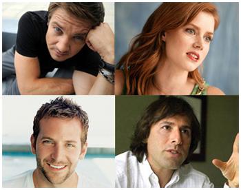 Jeremy Renner, Amy Adams e Bradley Cooper nel nuovo film di David O'Russell