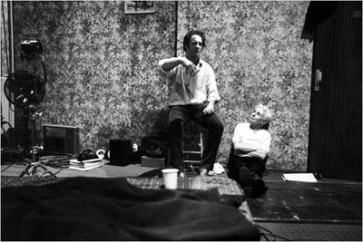 Vincent Lindon con Claire Denis sul set di Vendredi Soir